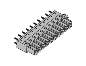 355101 INDUSTRY STANDARD Vertical PCB HEADERS