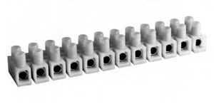 435NYLP Nylon Panel Mount Feed Through Terminal blocks With Or Without Wire Guard