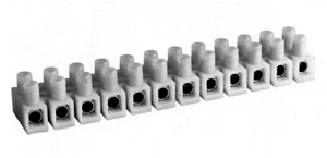 440NY LMI Nylon Panel Mount Feed Through Terminal blocks With Or Without Wire Guard